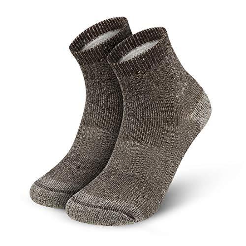 Vihir Merino Socken Herren - Sportsocken mit 80% Merino Wolle Antimikrobielle für Sport, Freizeit und Business 4Paar, Braun