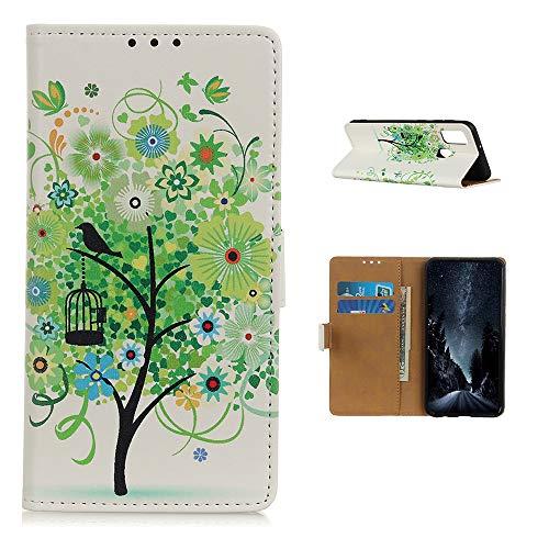 BeyondTop Brieftasche Schutzhülle für LG Harmony 4 Leder, Brieftasche Handyhülle mit Kreditkarte Slot und Magnetisch Schnalle Flip Hülle für LG Harmony 4-GS