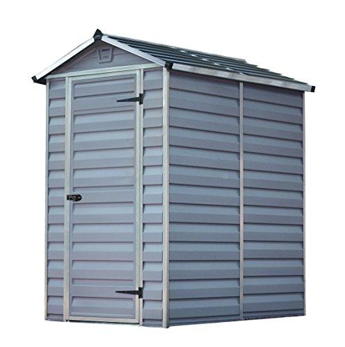Palram 4X6 Skylight Shed Dark Grau Bundle Gerätehäuser, 177,5x122,5x203,5 cm