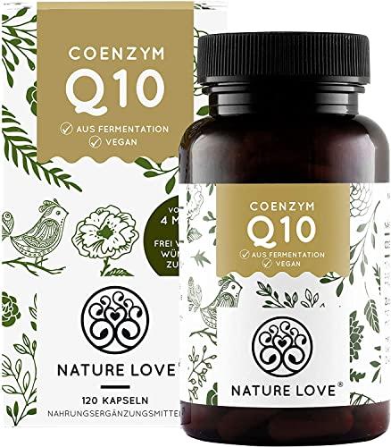 NATURE LOVE® Coenzym Q10 Hochdosiert - 200mg pro Kapsel. 120 vegane Kapseln im 4 Monatsvorrat. Aus pflanzlicher Fermentation. Hochdosiert & in Deutschland produziert
