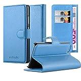 Cadorabo Funda Libro para Apple iPhone 5C en Azul Pastel - Cubierta Proteccíon con Cierre Magnético, Tarjetero y Función de Suporte - Etui Case Cover Carcasa