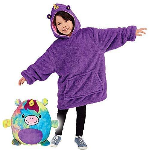 Child Blanket Sweatshirt Huggle Pets Hoodie Plush Animals Turn into...
