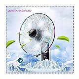 Ventilador de pared de 45 cm de diámetro, de bajo consumo doméstico, ventilador, con mando a distancia/temporizador, 0,5 – 7,5 H, color morado claro