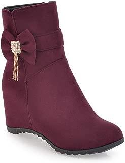 BalaMasa Womens ABS14009 Pu Boots