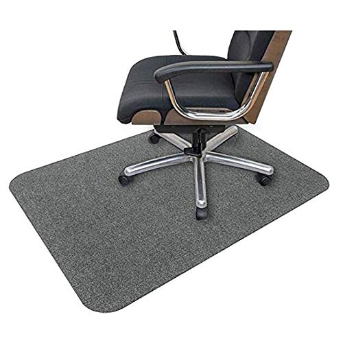 Ledph Bodenschutzmatte Teppich, Grau PVC Matte für Bürostuhl, Rechteckig Bodenschutzmatte Bürostuhlunterlage für Parkett Laminat, rutschfest, 90x120cm, 4mm Dicke