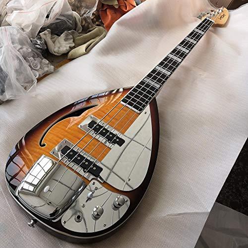 YYYSHOPP Guitarras y Engranajes Diapasado de Palisandro de Contrabajo de 4 Cuerdas con Guitarras de...