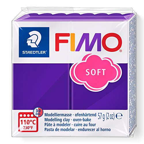 Staedtler 8020-63. Pasta para modelar de color ciruela Fimo Soft. Caja con 1 pastilla de 57 gramos.