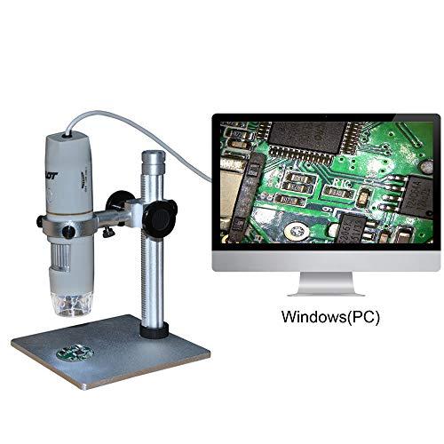 USB Portable Mikroskop OTG Funktion, Digitaler Zoom Lupe mit Halter wahr 8 LED Leuchten Design,5.0MP Kamera 1 X-500 X Vergrößerung 0-3 cm Fokus