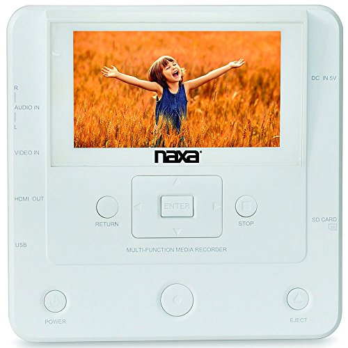 %8 OFF! Naxa NTM-1100 DVD/USB Media Recorder with Screen, White, 10.80in. x 7.20in. x 4.00in.