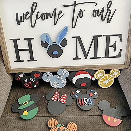 KFXD Bienvenido A Nuestro Hogar Iconos Intercambiables Sign-DIY Home Sweet Home para El Logotipo De La Familia 1pcs