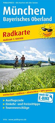 München - Bayerisches Oberland: Radkarte mit Ausflugszielen, Einkehr- & Freizeittipps, wetterfest, reissfest, abwischbar, GPS-genau. 1:100000 (Radkarte: RK)