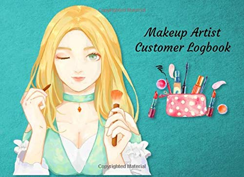 Makeup Artist Customer Logbook: Blue Cover | Make-Up Order Tracking Book | Clients Log book