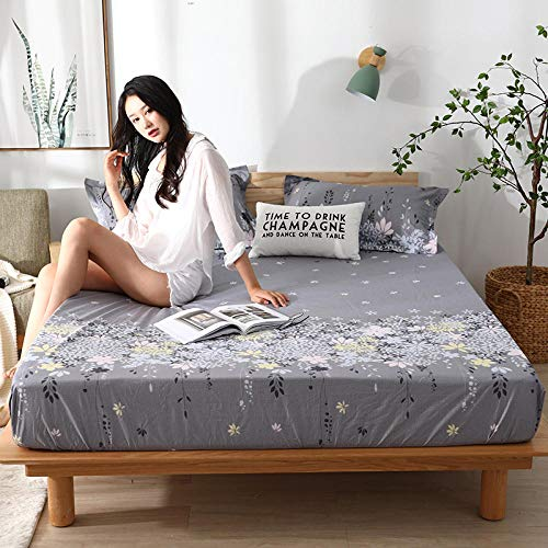 lhmlyl Matresss Protectorwaterproof Urine-Proof Bed With Solid Color Non-Slip Breathable Pad Printing Elderly Nursing Pad Physiological Pad-Rosemary_150*190