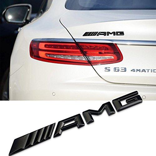 Ricoy New Style 3D Für /// AMG Emblem ABS Trunk Logo Abzeichen Dekoration Geschenk Aufkleber (Schwarz)