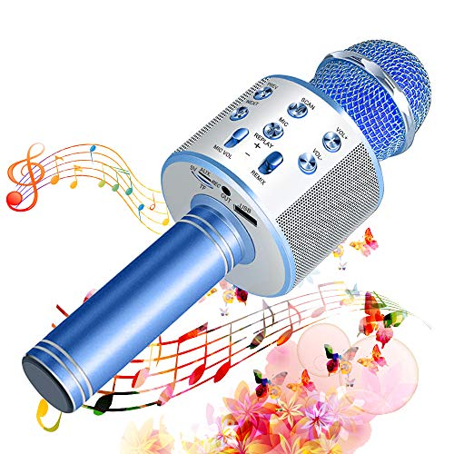 SunTop Wireless Microphone Karaoke, Bluetooth Microphone for Party, KTV,Home, PC/Android/IOS Smartphone, Singging,...