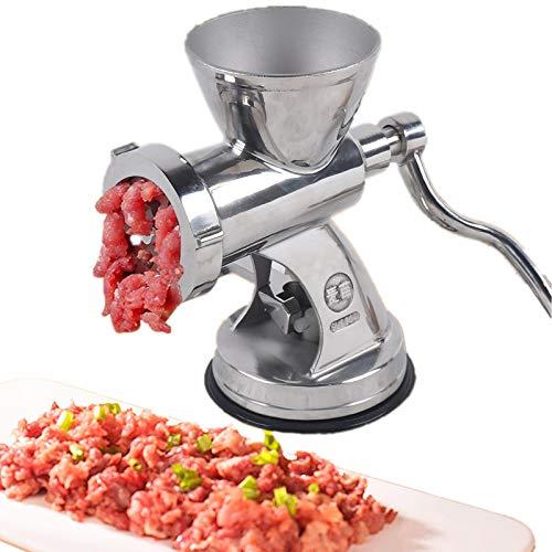 Fleischwolf Manuell Edelstahl - Wurstfüller mit Lochscheibe Hackfleisch Wurst Maker Wurst Fleisch Machine Wursthersteller für Tischmontage Churros