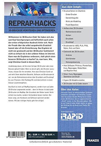 RepRap Hacks: 3D-Drucker verstehen und optimieren - 2