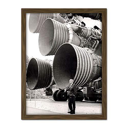 Fine Art Prints Space NASA Von Braun Saturn V F-1 Rocket Thrusters - Stampa Artistica da Parete, 45,7 x 61 cm