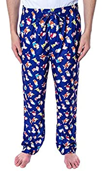 Disney Men s Snow White and The Seven Dwarfs Allover Character Loungewear Sleep Pajama Pants  2X-Large