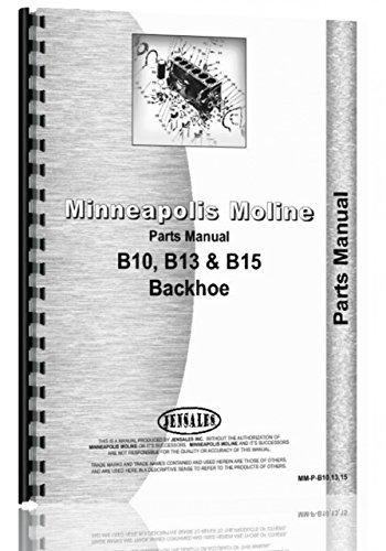 Minneapolis Moline BF Tractor Parts Manual (SN# R238)