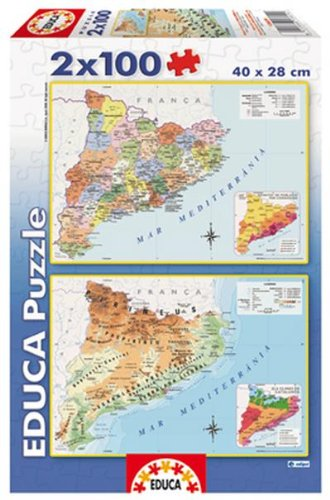 International Montessori Institute   Mapa Puzzle De Cataluña en Madera