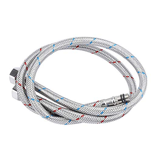 Nikou Ligne Flexible d'approvisionnement en Eau d'acier Inoxydable de connecteur de Robinet 2Pcs pour l'eau Chaude et Froide Suppl