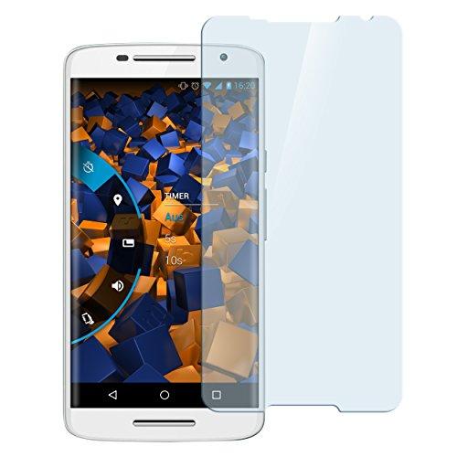 mumbi Hart Glas Folie kompatibel mit Motorola Moto X Play Panzerfolie, Schutzfolie Schutzglas (1x)