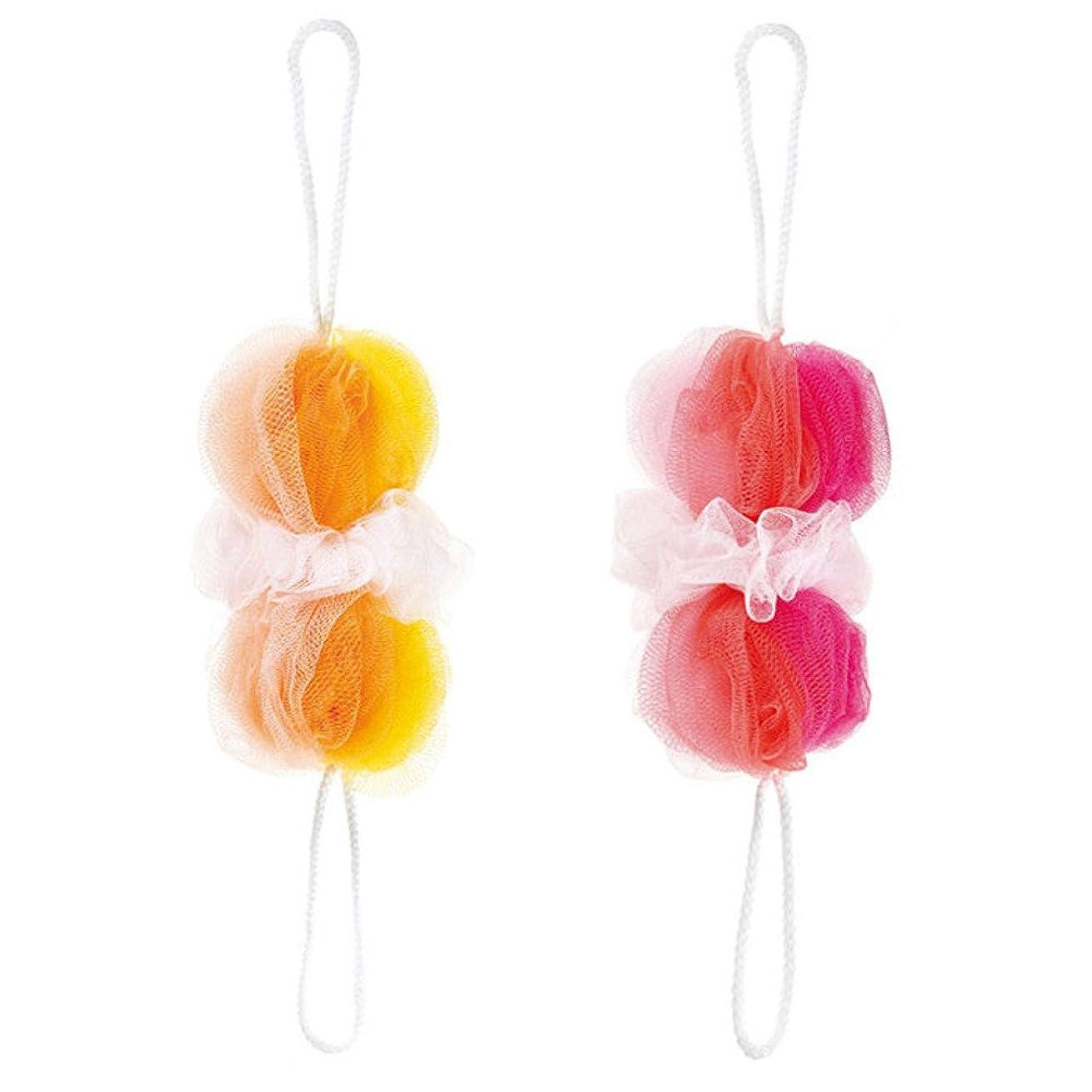 修羅場行き当たりばったりピルマーナ 背中も洗えるシャボンボール ミックス 2色セット(P&Y)