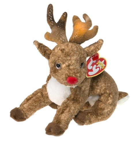 Ty Beanie Babies - Roxie the Reindeer (Red Nose)