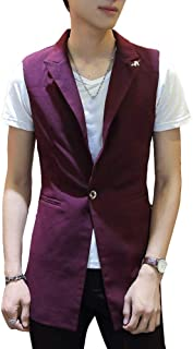 Men's Vest Single Breasted Casual Business Classic Vest Modern Casual Waistcoat Vest Vest Men Casual Leisure Waistcoat