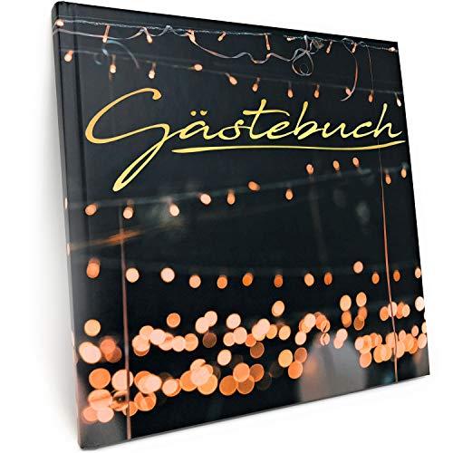 Gästebuch für Hochzeit Geburtstag Party - Mattes Hardcover mit 100 blanko Seiten und hochwertiger...
