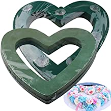 Floral Foam Heart Shape for Wedding Party DIY Floral Craft with Cage Suction Cup 40×40cm