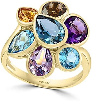 Effy 14K Yellow Gold Multi Gemstone Ring 6 33 TCW IRY0K187M0 product image