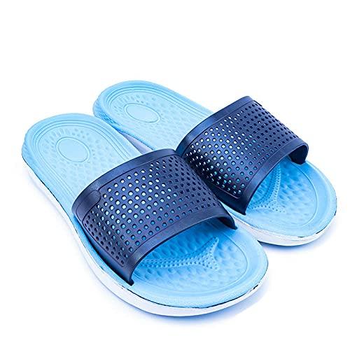 Caijie Sandalias Flip Slippers Sandalias de Interior Sandalinas de Verano Zapatos para Hombre Malla Ligera Moda (Color : Blue, Shoe Size : 7.5)
