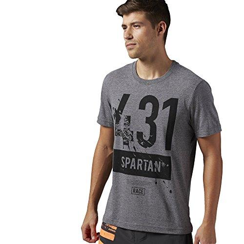 Reebok–Camiseta para Hombre Spartan Race Short Sleeve Tri Blend, Vegetal, XS, aj0621