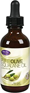 Life-Flo Pure Olive Squalane Oil Pressed From 100% Olives | Smooths & Moisturizes Skin | Softens & Conditions Hair & Cuticles | Cruelty-Free | 2oz