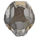 ZXYAN Máscara Protectora de esgrima de Malla de Acero Máscara de Airsoft para Exteriores