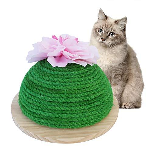 Kitabetty Cat Toy Cactus,Gatto Self Groomer Giocattolo per Gatti Massaggio Scratch Board Pet AntiGraffio Divano Scratcher Sisal Claw Macinazione Fata Palla Ottimo per Gattini E Gatti