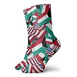 yting Calcetines casuales de la bandera de Kuwait con la bandera de Estados Unidos Calcetines de tobillo Calcetines de compresión de vestido corto para mujeres Hombres