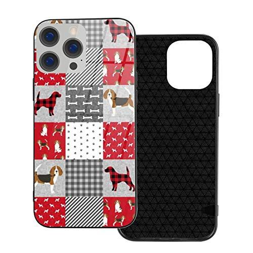 MEUYGOFLZ Compatible con iPhone 12 Pro Max, carcasa resistente de cuerpo completo, suave de cristal TPU para iPhone 12 Pro Max 6.7 pulgadas, Beagle mascota perro raza entera