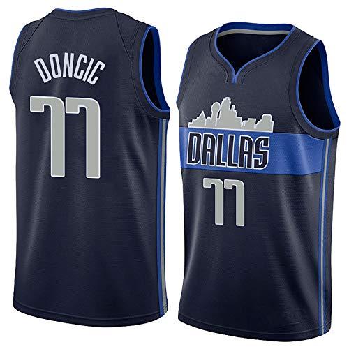 NIUPUPU Männer Basketball Trikot NBA Dirk Nowitzki 41 J.R.Smith 1Luka Doncic 77 Retro Sport Trikot Fitness Tank Top Sport Top S-XXL