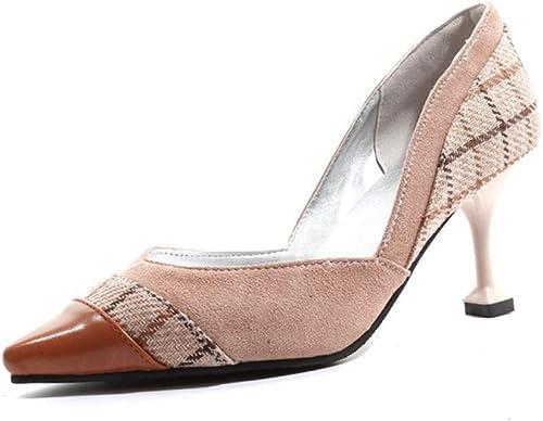 YAN Chaussures Stiletto pour Femmes 2019 Nouveau PU Pointu Pompes Mode Talons Hauts Chaussures Mariage Party & Robe de soirée Chaussures,B,35