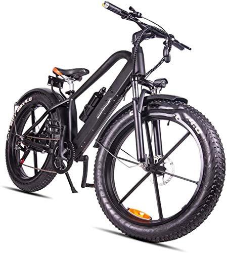 Bici elettrica, Bicicletta elettrica da 26 pollici grasso pneumatico elettrico 400W 48V Snow E-Bike 6 Velocità Beach Cruiser Mens Donne Montagna E-Bike Pedal Assist Batteria al litio Beach Cruiser per