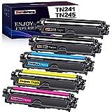 Zambrero Compatible TN241 TN245 TN-241 TN-245 Cartucho de Tóner para Brother DCP-9015CDW 9020CDW HL-3140CW 3150CDW 3170CDW MFC-9140CDN 9330CDW 9340CDW (2 Negro, 1 Ciano, 1 Magenta, 1 Amarillo)