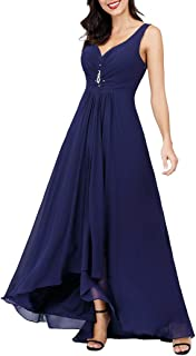 Ever-Pretty Scollo V Abito da Sera Donna Lunga High-Low Chiffon Impero 09983