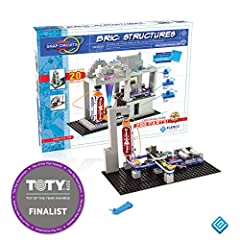 Combine Snap Circuits with building bricks to create amazing combinations of construction and circuitry! With our innovative bric-2-snap technology, kids can wire up their brick builds with Snap Circuits lights, sounds, moving parts, and 3-D Circuits...