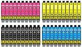 40 Druckerpatronen Multipack Ersatz für Epson T1291 T1292 T1293 T1294 Stylus SX230 Stylus SX235w Stylus SX420 Stylus SX425w SX435w SX445w SX620fw WF 3520 WF 3530 WF 3540 BX305f BX305fw BX320fw