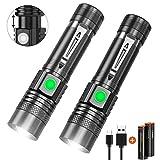 LED Taschenlampe Wiederaufladbare, Karrong USB Taschenlampen Zoombar Extrem hell mit 4 Modi für...