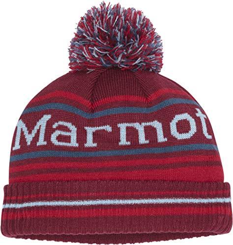 Marmot Boy's Retro Pom Hat Chapeau Garçon, Brick/Team Red, One