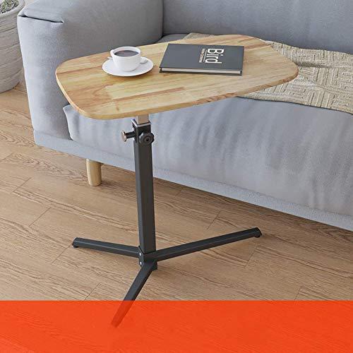 AJH Rolling Laptop Schreibtisch, Betttisch mit Rädern Rolling Abnehmbarer Nachttisch Laptopständer Sofa Beistelltisch Heben Massivholz Schreibtisch-a